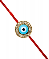 Aaron Basha Evil Eye with Diamonds on a Red Cord