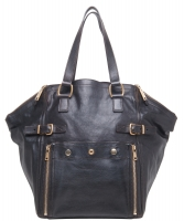 Yves Saint Laurent Donkerbruin Medium 'Downtown' Tote - Yves Saint Laurent