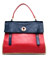 Yves Saint Laurent Tricolor Muse Two Satchel