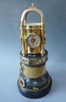 Fascinerende en zeldzame nautische thematieklok, automaat uit de Industriële Serie, Guilmet, Frankrijk, ca.1880-1890.