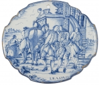 A Delft Blue Plaque