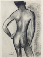 Else Berg, Male nude, charcoal on paper, ca. 1920s - Else Berg