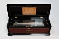 A rare and large Swiss Langdorff Organum Bariton cylinder music box, circa 1880