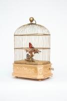Een Franse vogelkooi met zingende vogelautomaat, Bontems, circa 1880.