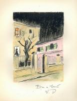 lithograph Au Beau Temps de la Butte (Roland Dorgelès)