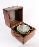 Een Engelse palissander 56-uurs chronometer, door Joseph Sewill, omsteeks 1870