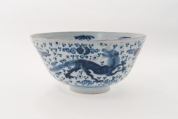 A Blue and White Dutch Delft Deep Bowl