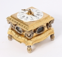 A small horizontal alarm table clock with push repeat, by P.I. Radzinski, circa 1750