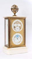 A very attractive table clock with regulator dial and perpetual calendar by Brocot & Delettrez, circa 1860
