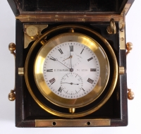 A good French mahogany 2-day chronometer, by E. Thomas, circa 1870