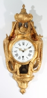 A good French Louis XVI ormolu striking cartel clock with sweep seconds, circa 1770