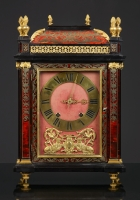 French Pendule Religieuse decorated with Boulle-marquetry