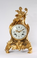 A good French Louis XV ormolu mantel clock, by Beauvarlet, circa 1750