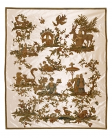European embroidery with Chinoiserie motifs