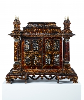 A Victorian Tortoiseshell Table Cabinet