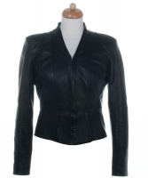 Chanel Black Paneled Leather Jacket - Chanel