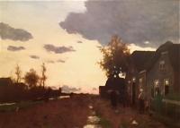 Impressionistic landscape (falling evening)