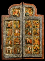 Two Wings of a Triptych with Church Feasts