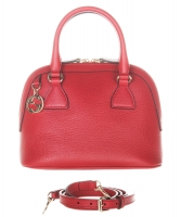 Gucci GG Charm Red Mini Dome Crossbody Bag - Gucci