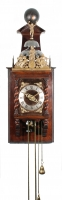 A good Dutch walnut quarter striking 'Zaanse' wall clock, C. Van Rossen circa 1700
