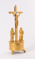 Een zeldzame Zuid Duitse verguld bronzen crucifix klok, door Joseph Patzelt, circa 1820