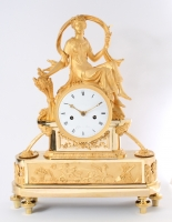 A good French Empire sculptural mantel clock by Colin à Paris circa 1800