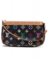 Louis Vuitton Black Multicolore Pochette - Louis Vuitton
