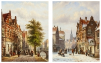 A pair of cityscapes