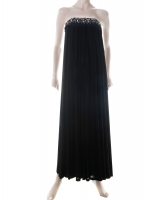 1970's Emilio Pucci Black Strapless Evening Gown