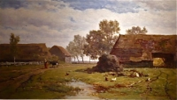 Summer Landscape. The Netherlands, School of the Hague.