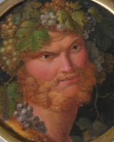 Miniature painting of Bacchus