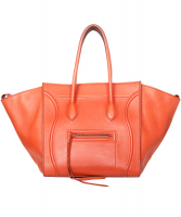 Céline Medium Luggage Phantom Bag in Orange Bullhide Calfskin - Celine
