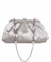 Dolce & Gabbana Satin Crystal Chain Evening Bag