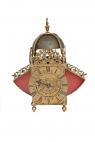 An English brass lantern clock with wings, Thomas Taylor Holborne London, circa 1680