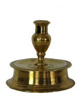Spanish brass candlestick, about 1600.