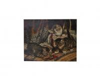 Schilderij van Cornelis Raaphorst (1875-1954 Wassenaar)