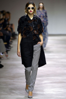 SS 2013 Dries Van Noten Runway Floral Applique Coat
