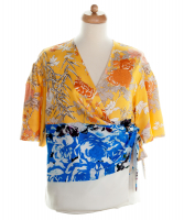 SS 2008 Dries Van Noten Silk  Wrap Top