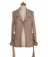 Chanel Belted Knit Cardigan 06P