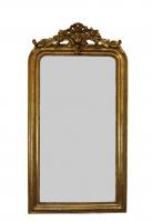Franse spiegel met kuif, ca 1850 - 1875