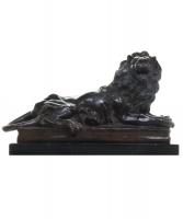 Midden 19eeuwse Model van een Leeuw naar een ontwerp van A. BARYE