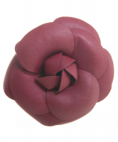 Chanel Leather Camellia Brooch - Chanel