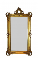 Dutch mirror with giltwood frame.