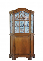 Dutch oak display cabinet, about 1750.