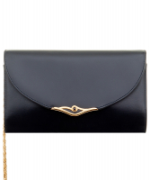 Cartier Navy Blue Leather Shoulder Bag - Cartier