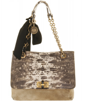 Lanvin Happy Handbag Lizard Print Flap Medium - Lanvin