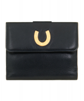 Vintage Gucci Navy Blue Leather Bifold Wallet - Gucci