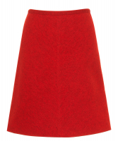 Alaïa Red Wool A-Line Skirt - Azzedine Alaïa