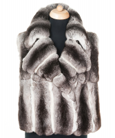 Roberto Cavalli Chinchilla Fur Brown Sleeveless Jacket - Roberto Cavalli