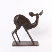A French Art Deco bronze of a young deer, circa 1930.